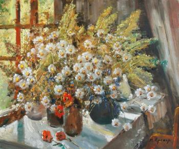 Kremer Mark. Wildflowers at the window in summer