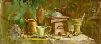 """Still life with a coffee grinder"". Sviridova Inessa"