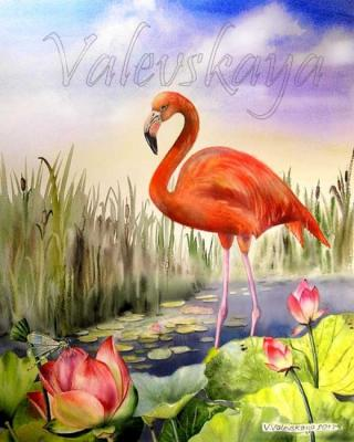 Red flamingo. Valevskaya Valentina