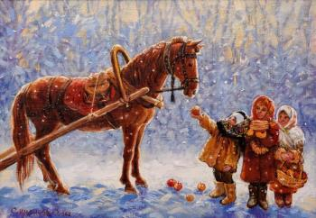 Simonova Olga. Frosty apples