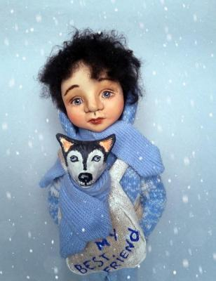 "ooak art doll ""Can he live with us?"". Khotian Ivanna"