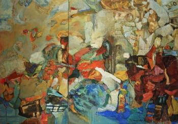 Podgaevskaya Marina. Composition-№-204 (diptych)(Revolutionary)