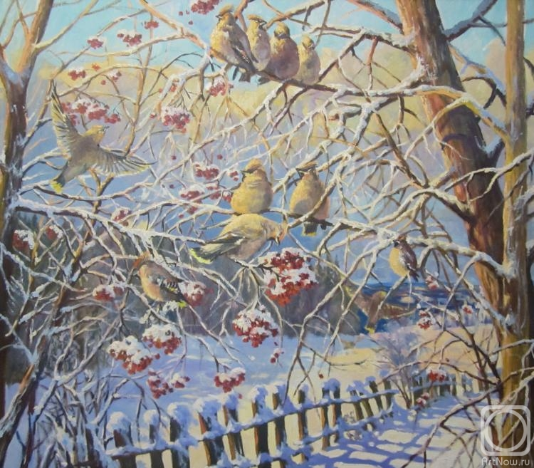 Svinin Andrey. The waxwings flew
