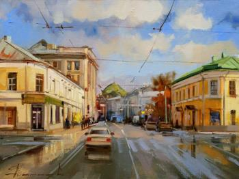 """The sun is in puddles."" The intersection of Pokrovka and Chistoprudnogo Boulevard. Shalaev Alexey"
