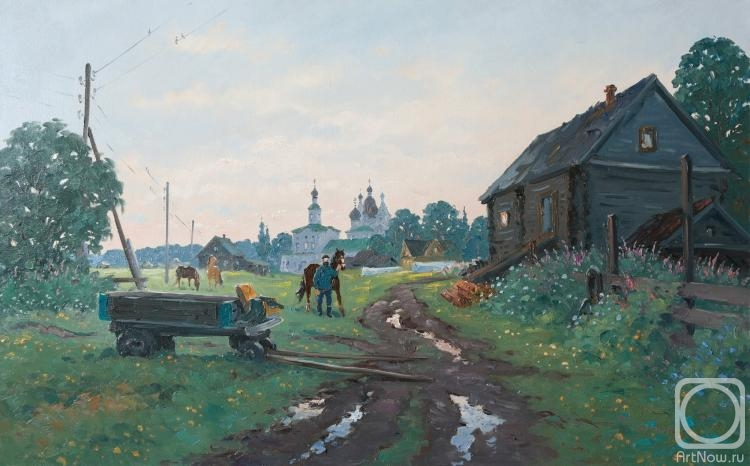 Alexandrovsky Alexander. At the stables. Morning