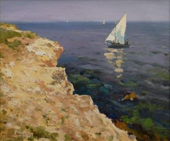 Sailboat off the coast of Tarkhankut. Shevchuk Vasiliy
