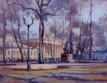 «The autumn plein air». Moscow, Strastnoy Boulevard (Historical Center). Shalaev Alexey