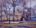 «The autumn plein air». Moscow, Strastnoy Boulevard