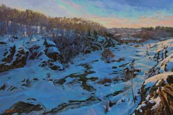 Samokhvalov Alexander. The small river which is held down by ices