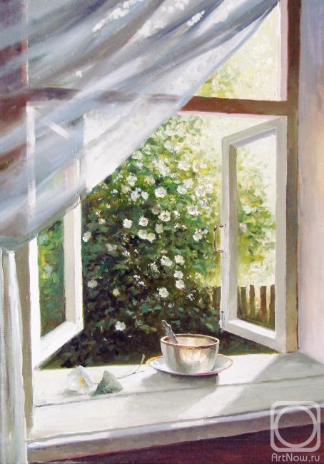 Grokhotova Svetlana. Window overlooking the garden