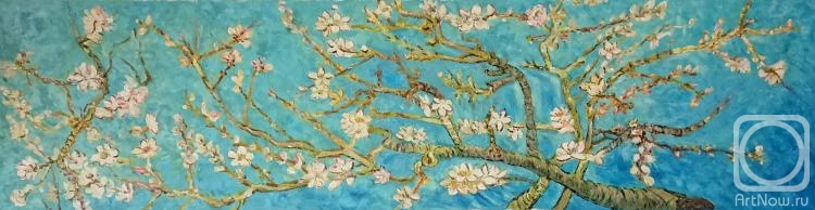 Dzhanilyatii Antonio. Flowering almond branches. Copy of Van Gogh