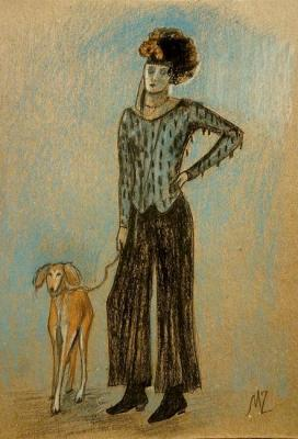 Lady with a dog. Zozoulia Maria