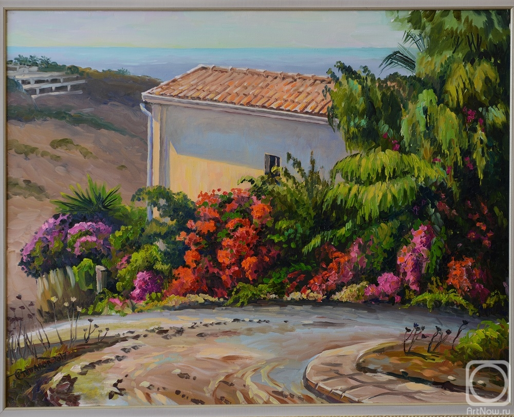 Stepanov Pavel. October day in the village of armou. Cyprus