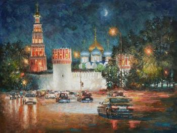 Monastery in the night decoration. Razzhivin Igor