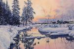 Volya Alexander. Winter river. Sunrise