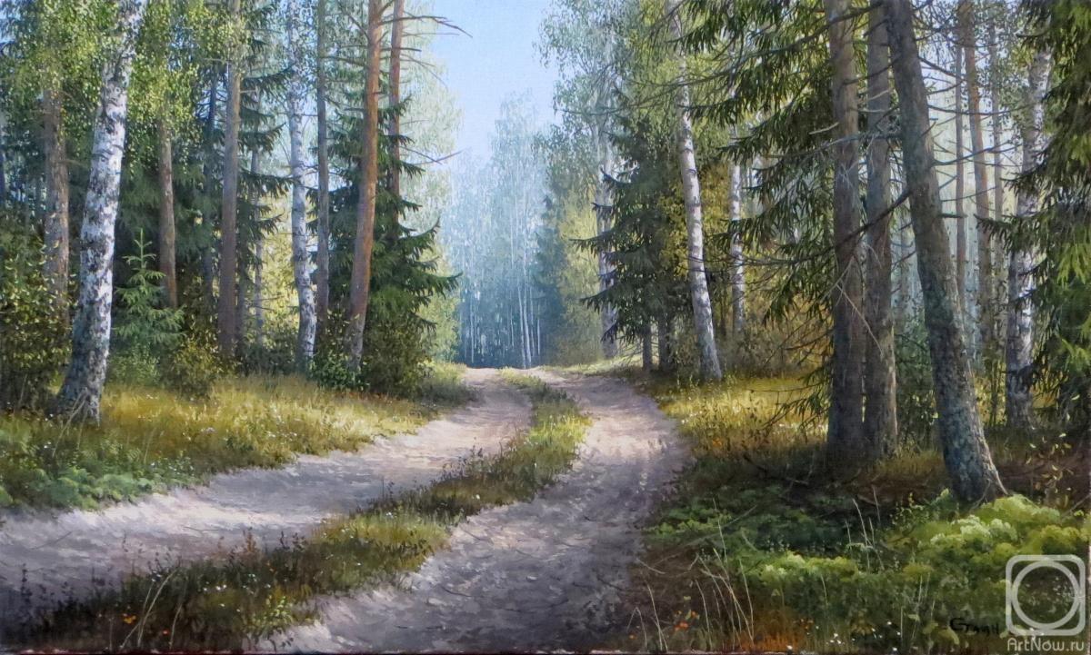 дорога в лесу в картинах художников все