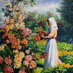 Simonova Olga. The nun in a garden
