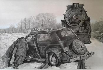 Retro auto accident 5. Sharaev Maksim