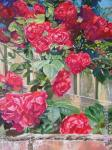 Kudryashovа Galina. Red roses and a fence