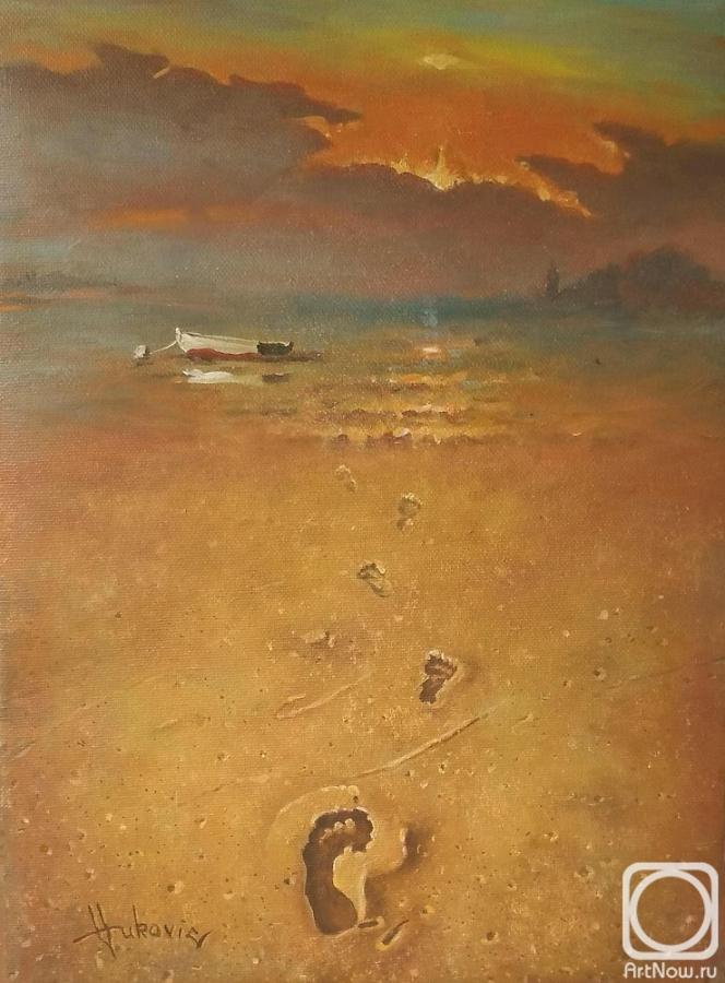 painting sandy beach ada bojana montenegro buy on artnow ru