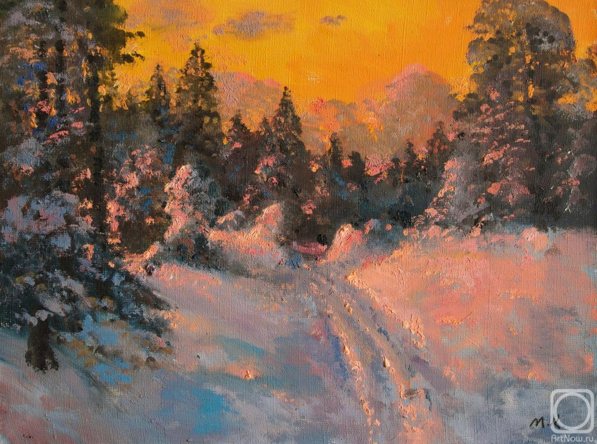 Kremer Mark. Sunset Lights, winter