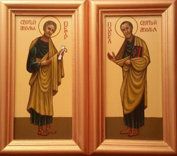 "Markoff Vladimir. Icon of ""Holy Peter and Paul"" (2in1)"