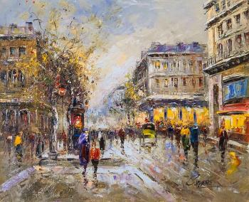"Vevers Christina. Landscape of Paris, by Antoine Blanchard's ""Les grands boulevards"""