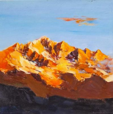 Mountain landscape. Dawn. Vevers Christina