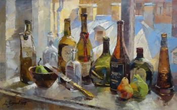 Bottles on the window. Kotunov Dmitry