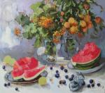 Kovalenko Lina. Stillife wis water-melon