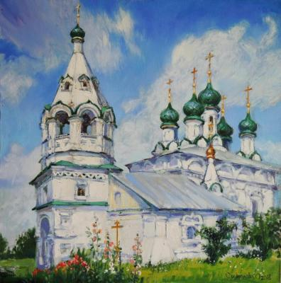 "Simonova Olga. The etude from nature ""the Old Belief temple for Lord's Transformation. Kostroma"""