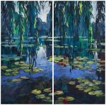 Goda Laima. Silent smooth surface (diptych)