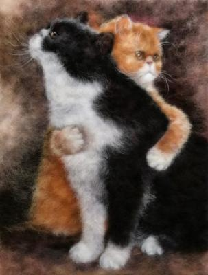 Vostrukhina Anna. Cat hugs