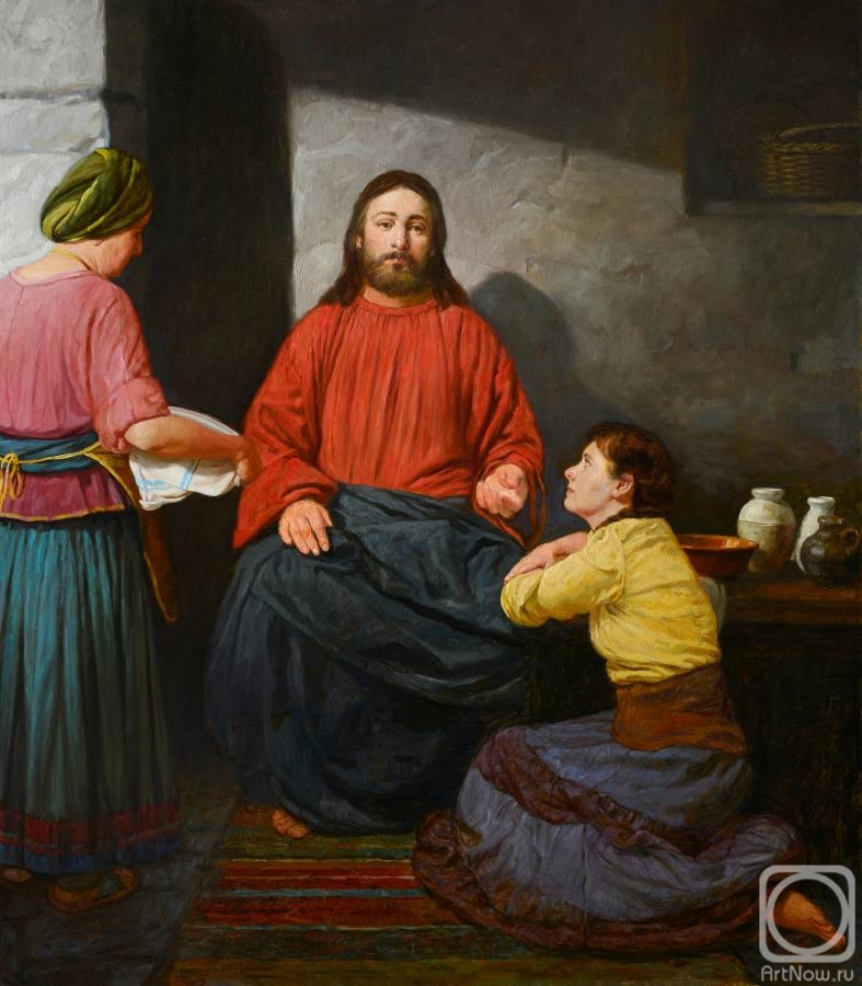 Mironov Andrey. Christ in the house of Martha and Mary