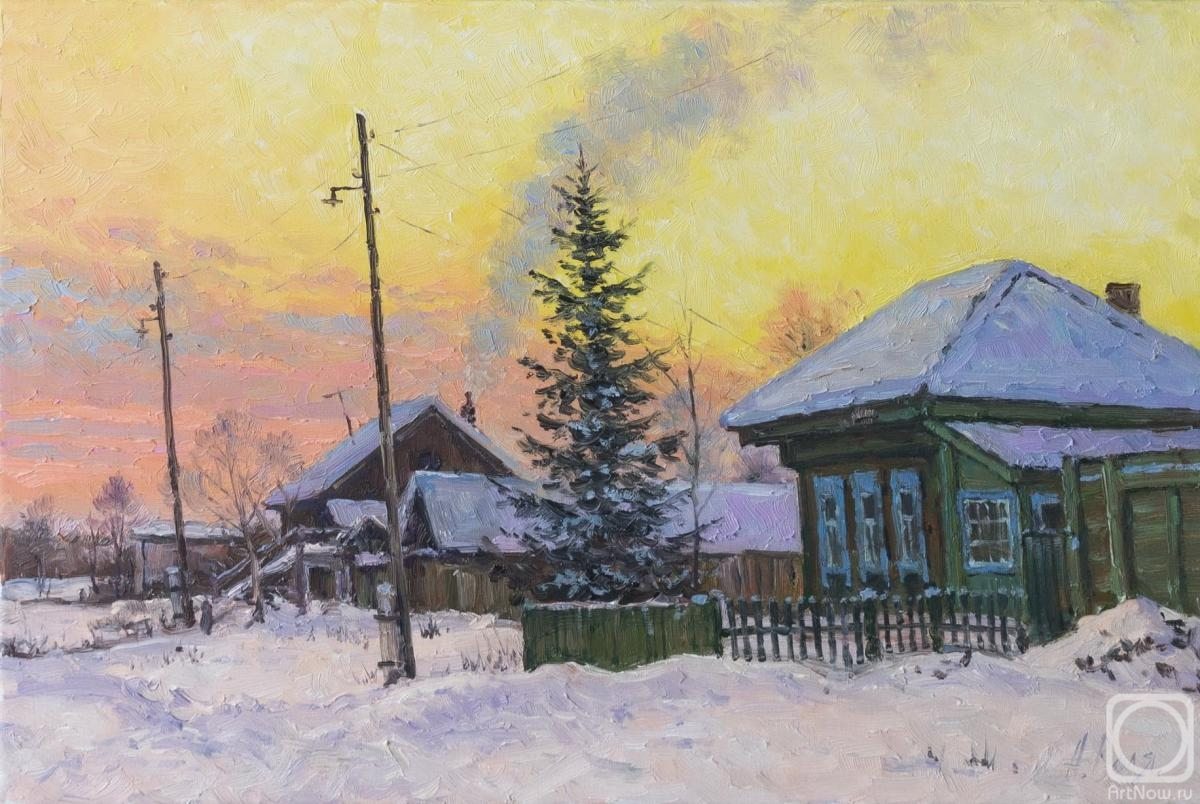 Volya Alexander. Village street, evening