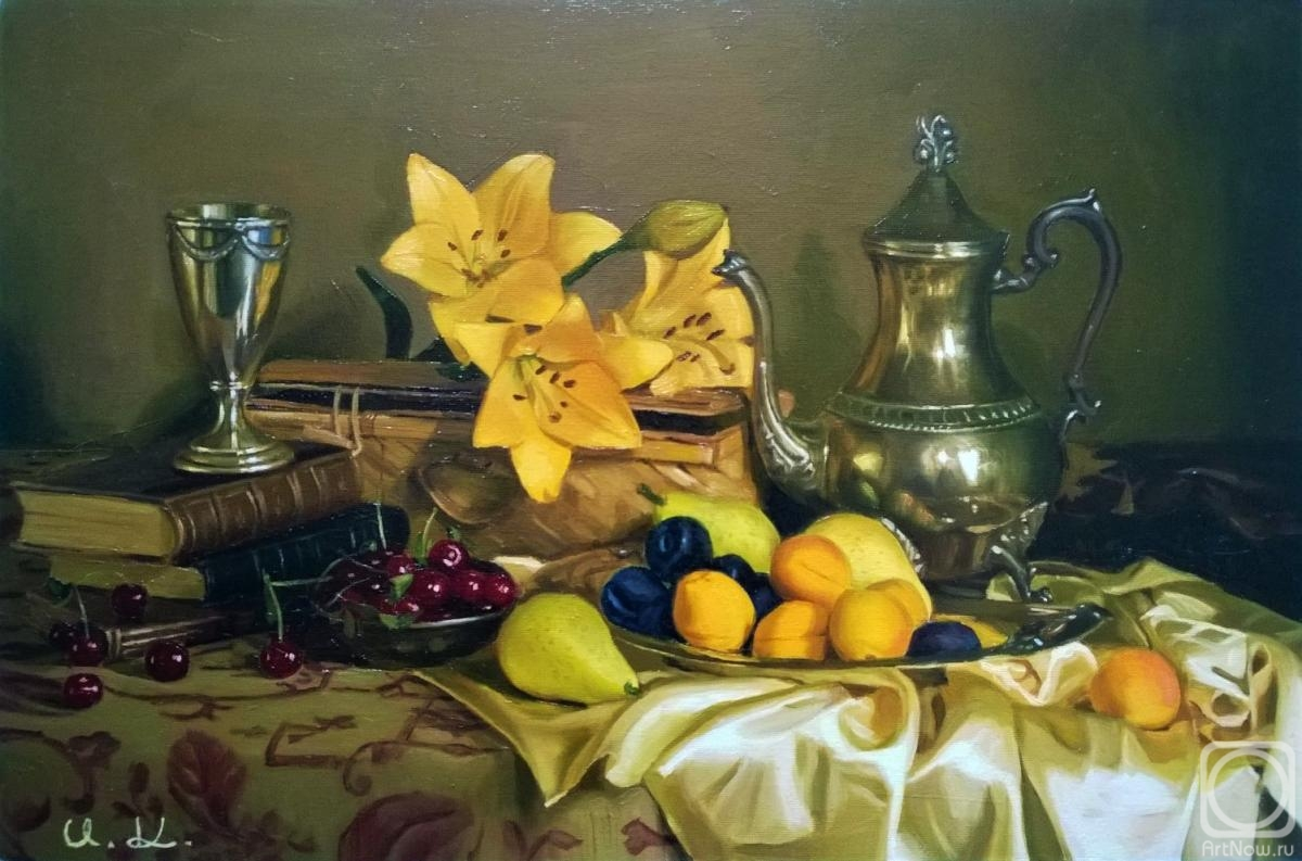 Croitor Igor. Still life with lilies