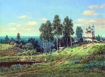Panin Sergey. Landscape with temple