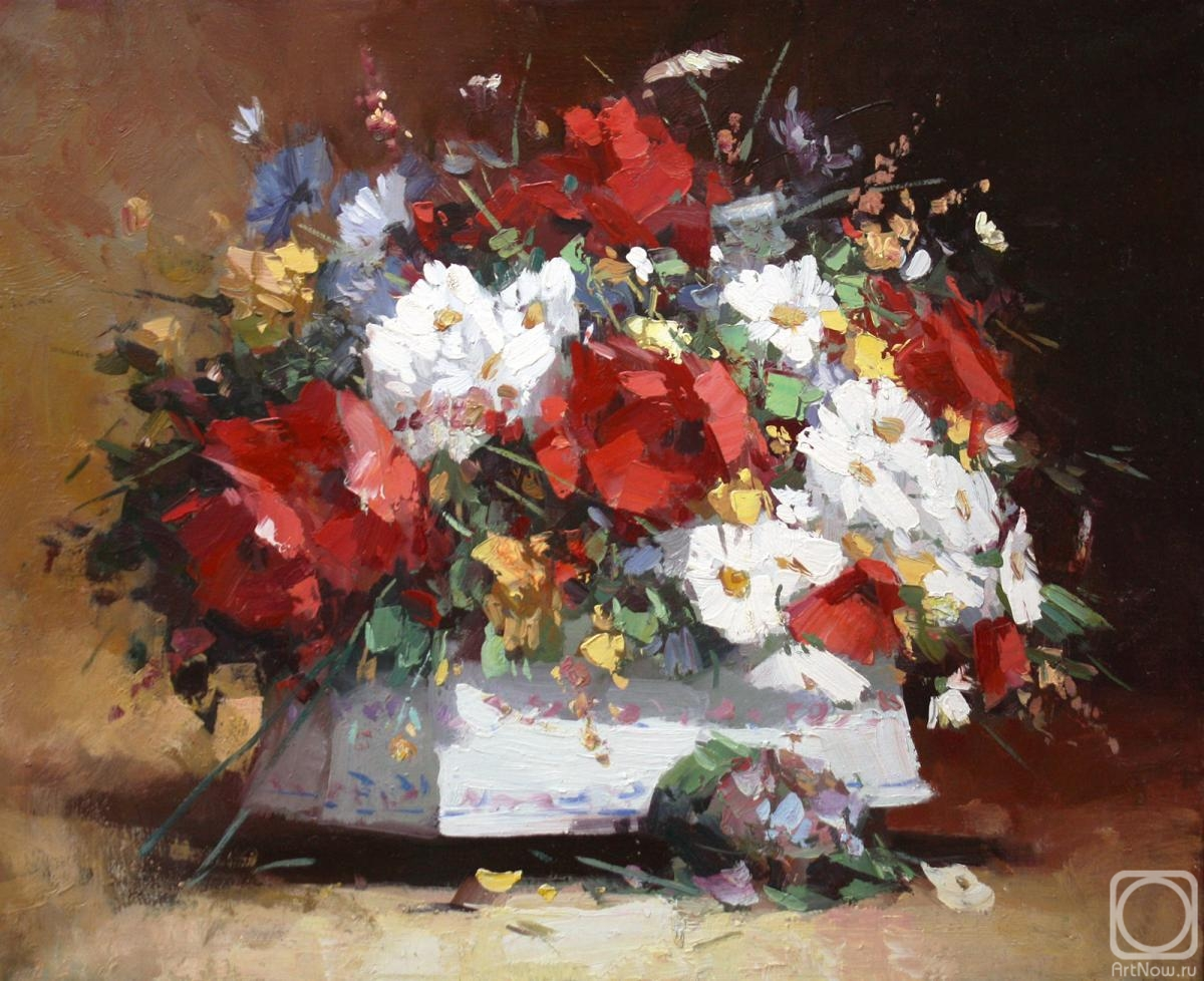 Pryadko Yuri. Still life with poppies