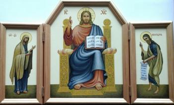 "Markoff Vladimir. Icon folding ""JESUS AT THE THRONE"""