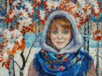 Feast of the first snow (portrait of Katya)