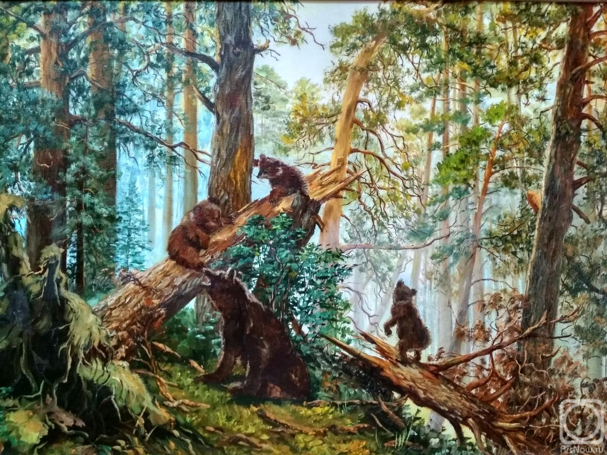 производстве используются утро в сосновом лесу картинки сотрудников любезных