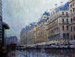 Konturiev Vaycheslav. Paris, rain and flowers