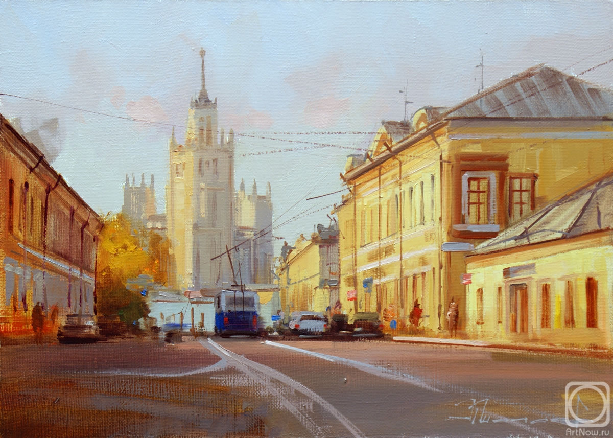 Shalaev Alexey. In the summer haze. Upper Radishchevskaya. Moscow