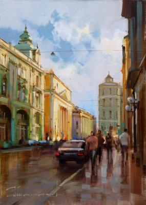 I'll go through the old streets. Ilyinka Street. Shalaev Alexey