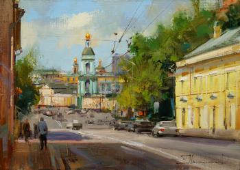 On the slope to Yauza. Yauzskaya Street. Shalaev Alexey