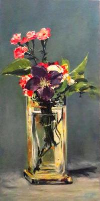 Strunina Galina. Flowers in a crystal vase