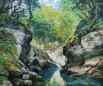 "The etude from nature ""The Psakho River Canyon"". Simonova Olga"