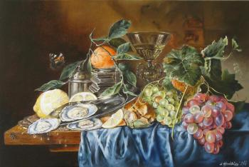Dutch still life with Mandarin. Shaykina Natalia