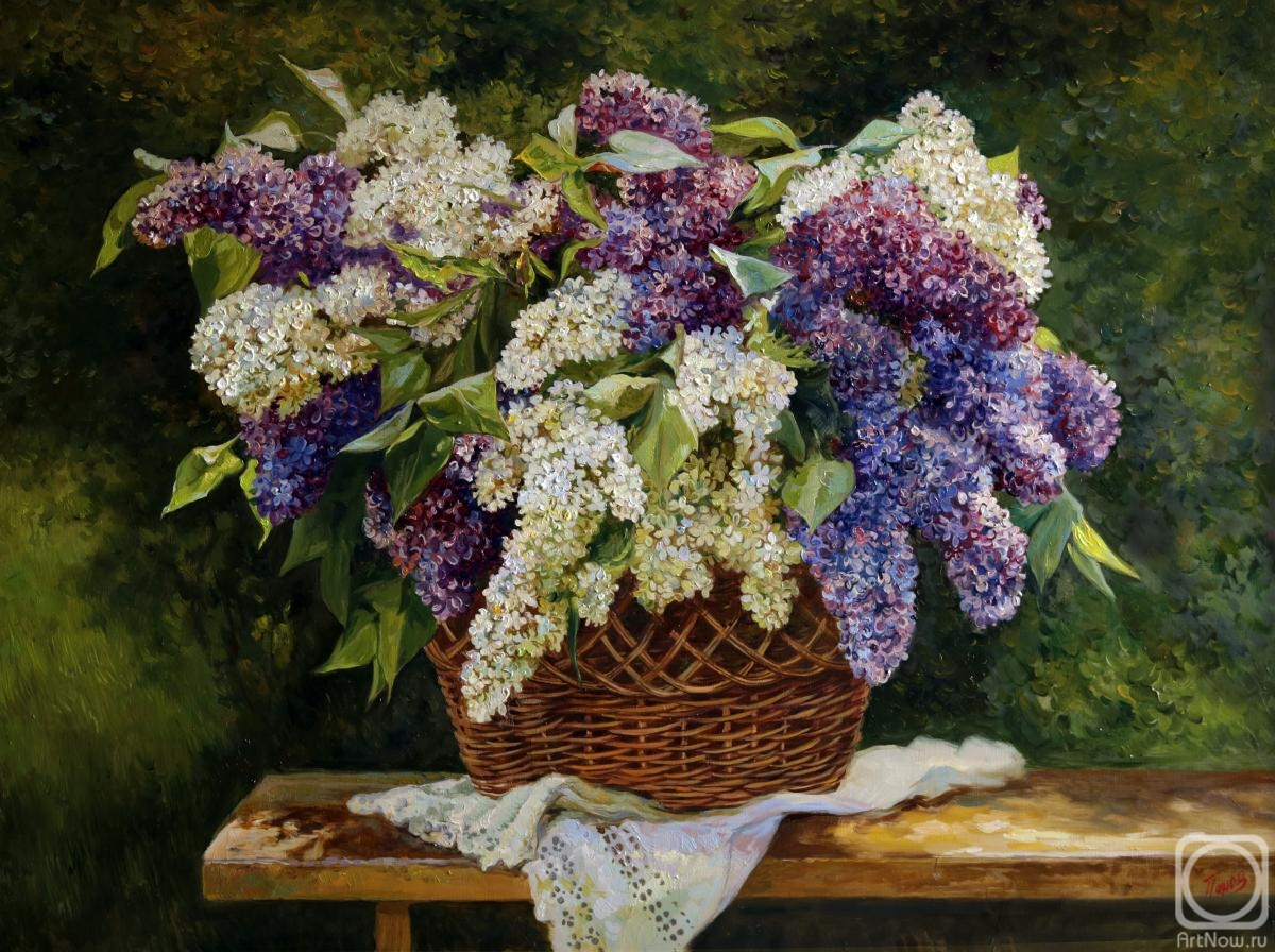 Panov Eduard. Lilacs in the garden