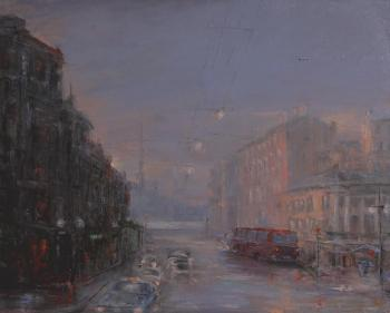 Solovev Alexey. Rainy evening fat Chaikovsky street